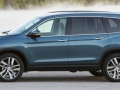 Exterior 2016 Honda Pilot side view dark blue