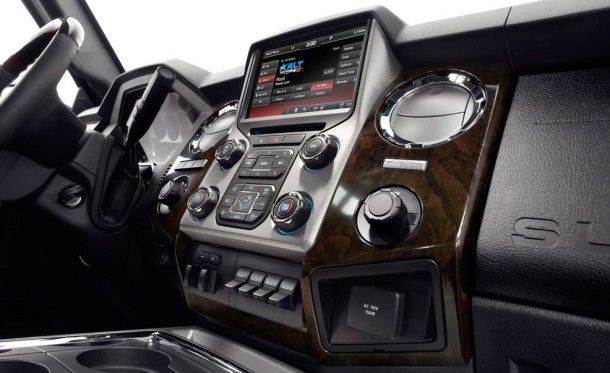 2015 Ford F-350 interior closeup