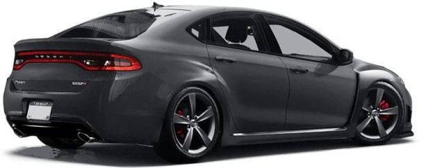2016 Dodge Dart SRT4 rear view