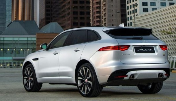 2016 Jaguar F-Pace rear view