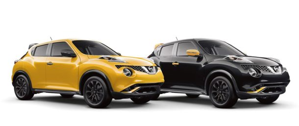 2016 Nissan Juke black and yellow