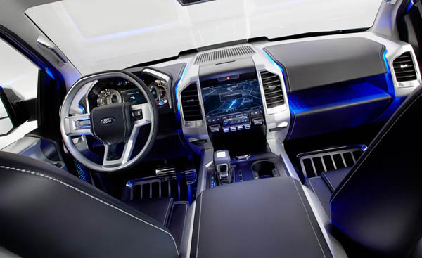 2017 Ford Atlas interior