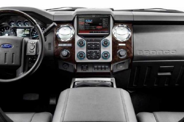 2017 Ford Bronco interior