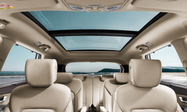2017 Hyundai Grand Santa Fe interior panoramic roof