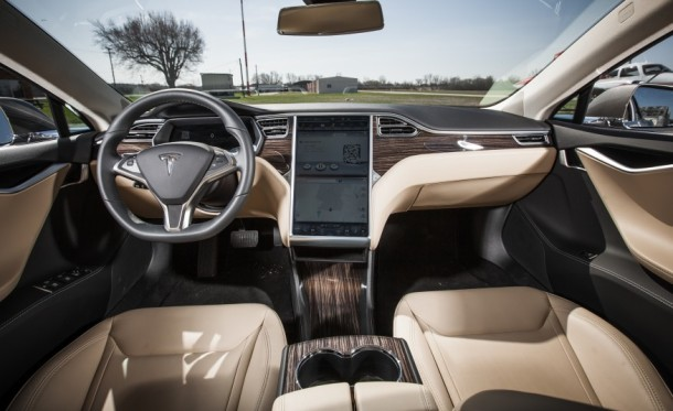 Interior of Tesla Model S