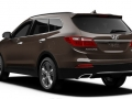 2016 Hyundai Santa Fe rear angle